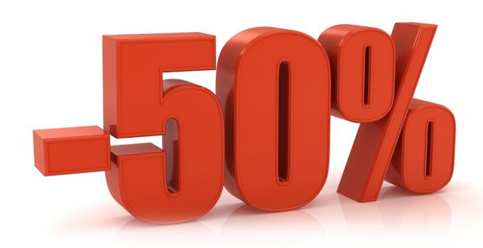 -50% jednorazowo na dowolny zabieg